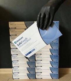 Medicom Перчатки сверхпрочные чёрные (M) нитриловые SafeTouch® Advanced Black (100 шт)