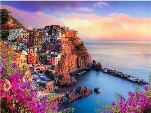 """Картина по номерам RSB8299_O40*50см """"Город на скалах"""" OPP (холст на раме с краск.кисти), фото 2"""