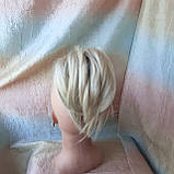 "Хвост короткий ""рожки"" на крабе платиновый блонд  6454А -15ВT613, фото 5"