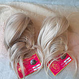 "Хвост короткий ""рожки"" на крабе платиновый блонд  6454А -15ВT613, фото 6"