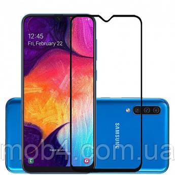Защитное стекло для Samsung Galaxy (Самсунг) A50 (На весь экран)