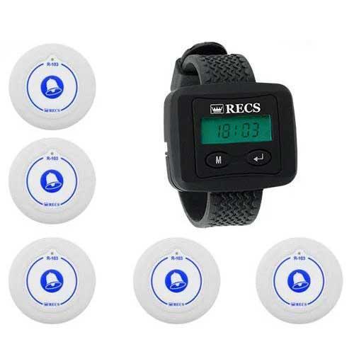 Система вызова медперсонала RECS №8   кнопки вызова медсестры 5 шт + пейджер персонала