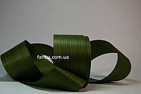 Лента аспидистры 1 рулон-50 ярдов( ширина 8см)цвет темно зеленый