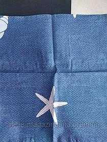 Наволочка 40*40 синяя