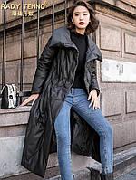 Кожаный пуховик из овчины ,женская теплая кожаная куртка, фото 1