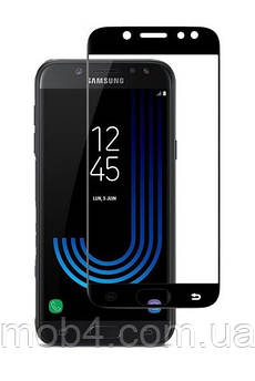 Защитное стекло для Samsung Galaxy (Самсунг) J730 на весь экран (чёрное, белое, золото)