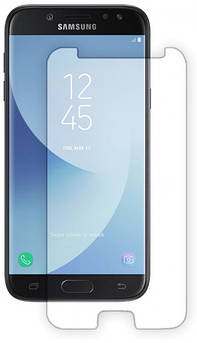 Захисне скло для Samsung Galaxy (Самсунг) J530 на весь екран (чорне, біле золото)