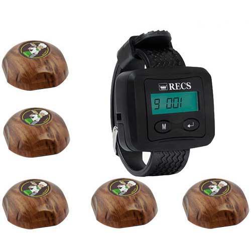 Система вызова официанта RECS №6   кнопки вызова официанта 5 шт + пейджер официанта