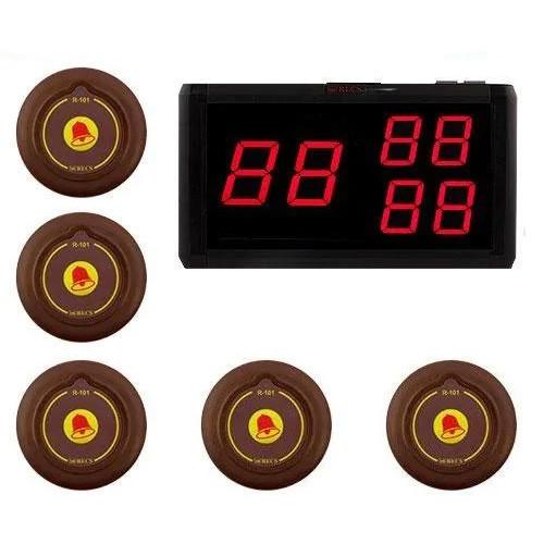 Система виклику офіціанта RECS №183 | кнопки виклику офіціанта 5 шт + приймач виклик