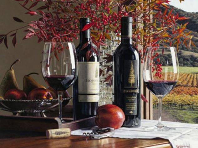 "Картина за номерами RA3381_O 40*50см ""Сорти вина"" OPP (полотно на рамі з фарбами.кисті), фото 2"