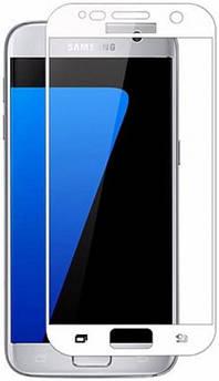Захисне скло для Samsung Galaxy (Самсунг) J330 на весь екран (чорне, біле золото)