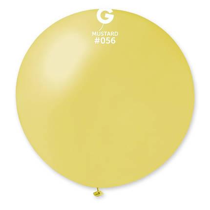 "Шар 31"" (80 см) Gemar металлик 56 горчичный (Джемар), фото 2"