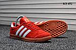 Мужские демисезонные кроссовки Adidas Hamburg (красные) KS 452, фото 3