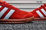 Мужские демисезонные кроссовки Adidas Hamburg (красные) KS 452, фото 5