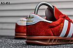 Мужские демисезонные кроссовки Adidas Hamburg (красные) KS 452, фото 4
