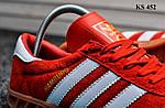 Мужские демисезонные кроссовки Adidas Hamburg (красные) KS 452, фото 6