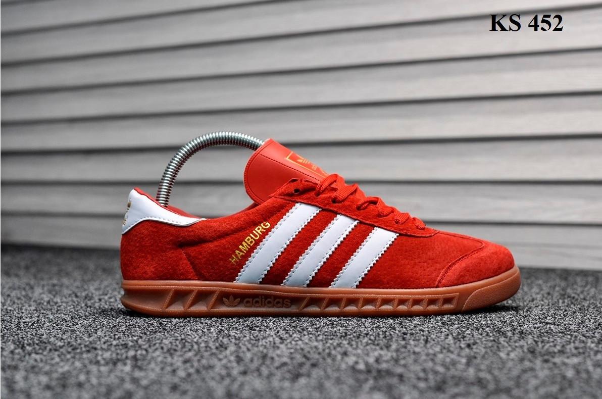 Мужские демисезонные кроссовки Adidas Hamburg (красные) KS 452