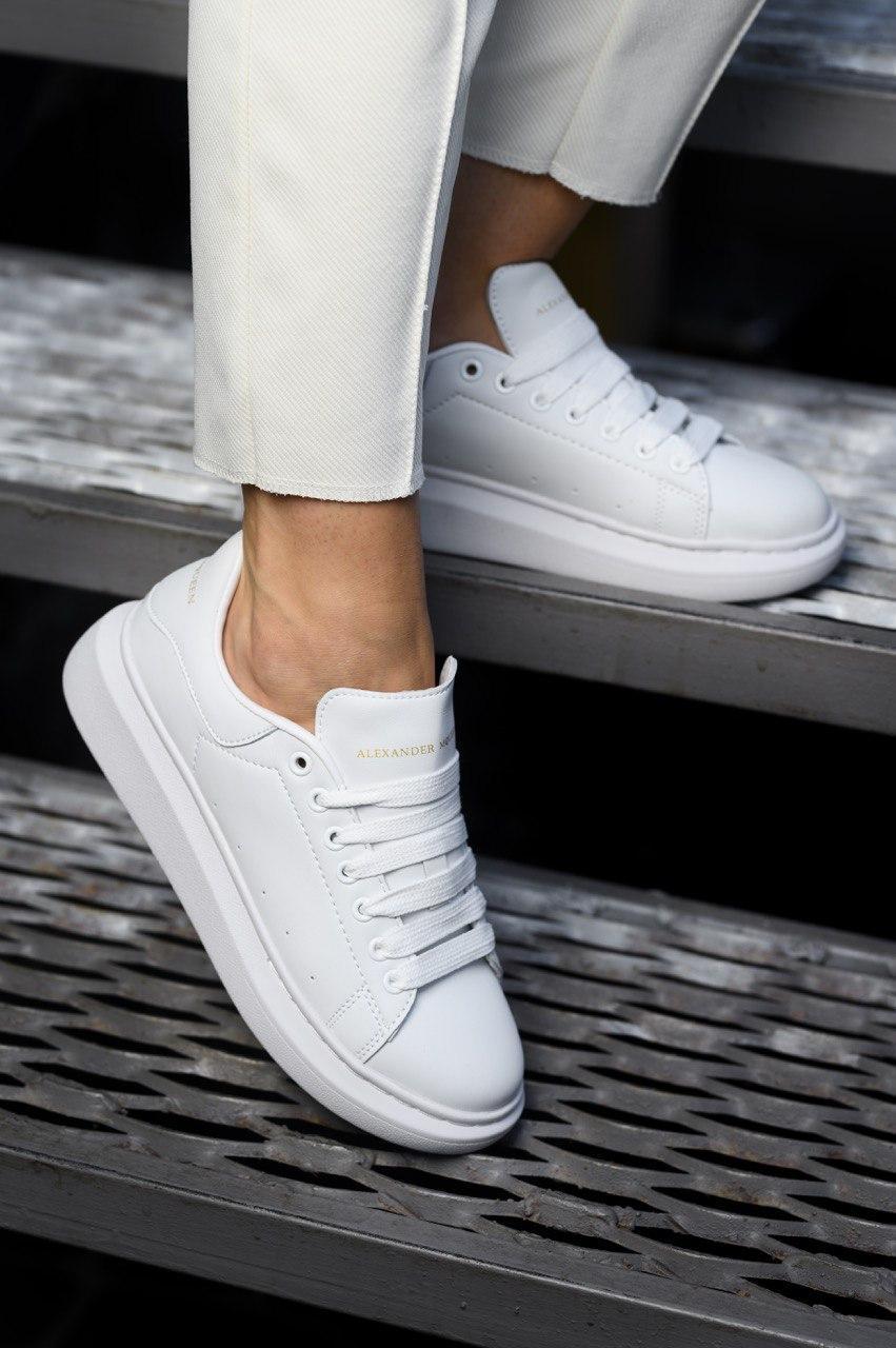 🔥 Кроссовки женские Alexander McQueen, Triple White (Александр МакКуин)
