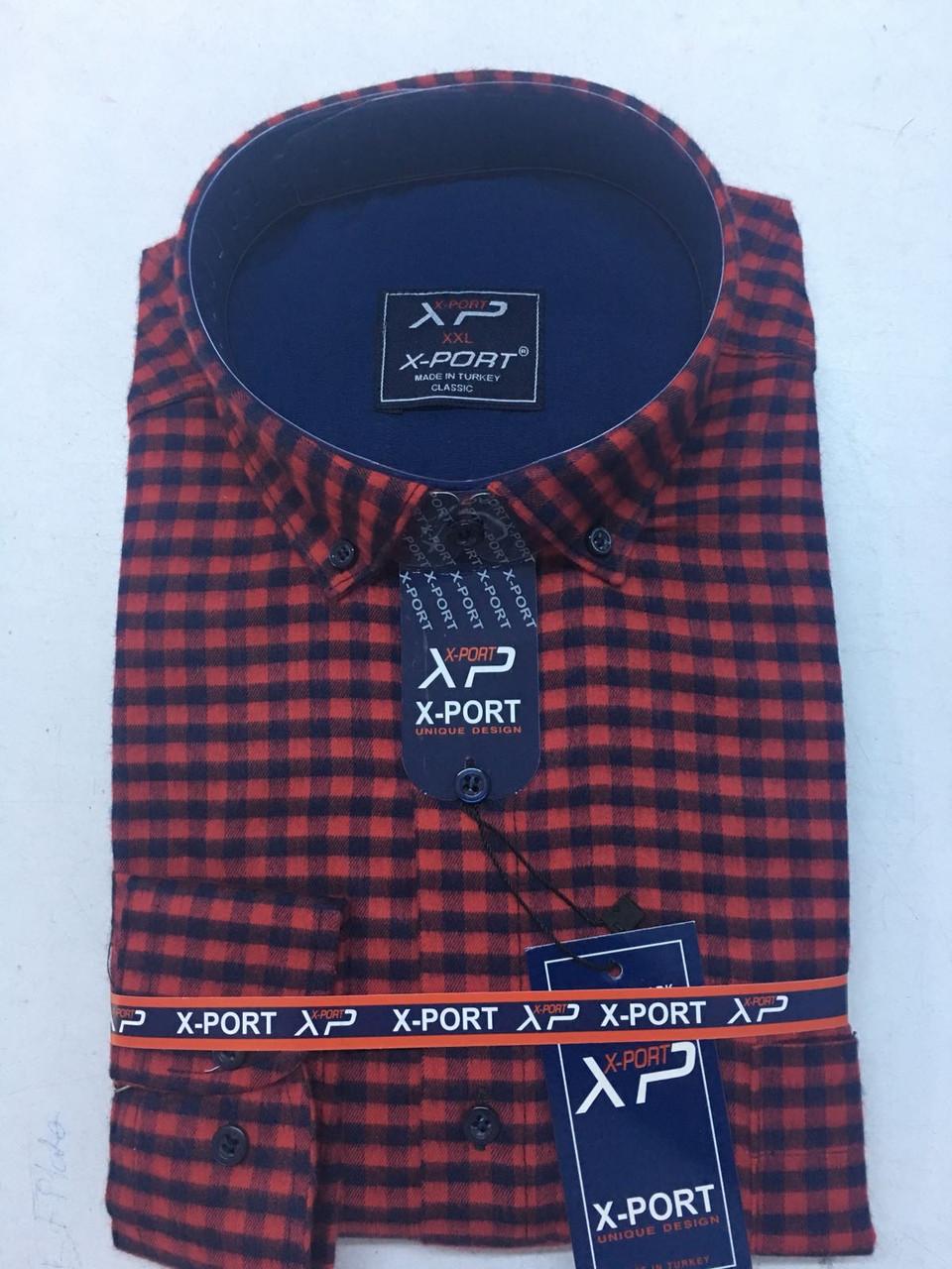 Чоловіча сорочка кашемір X-Port в клітку