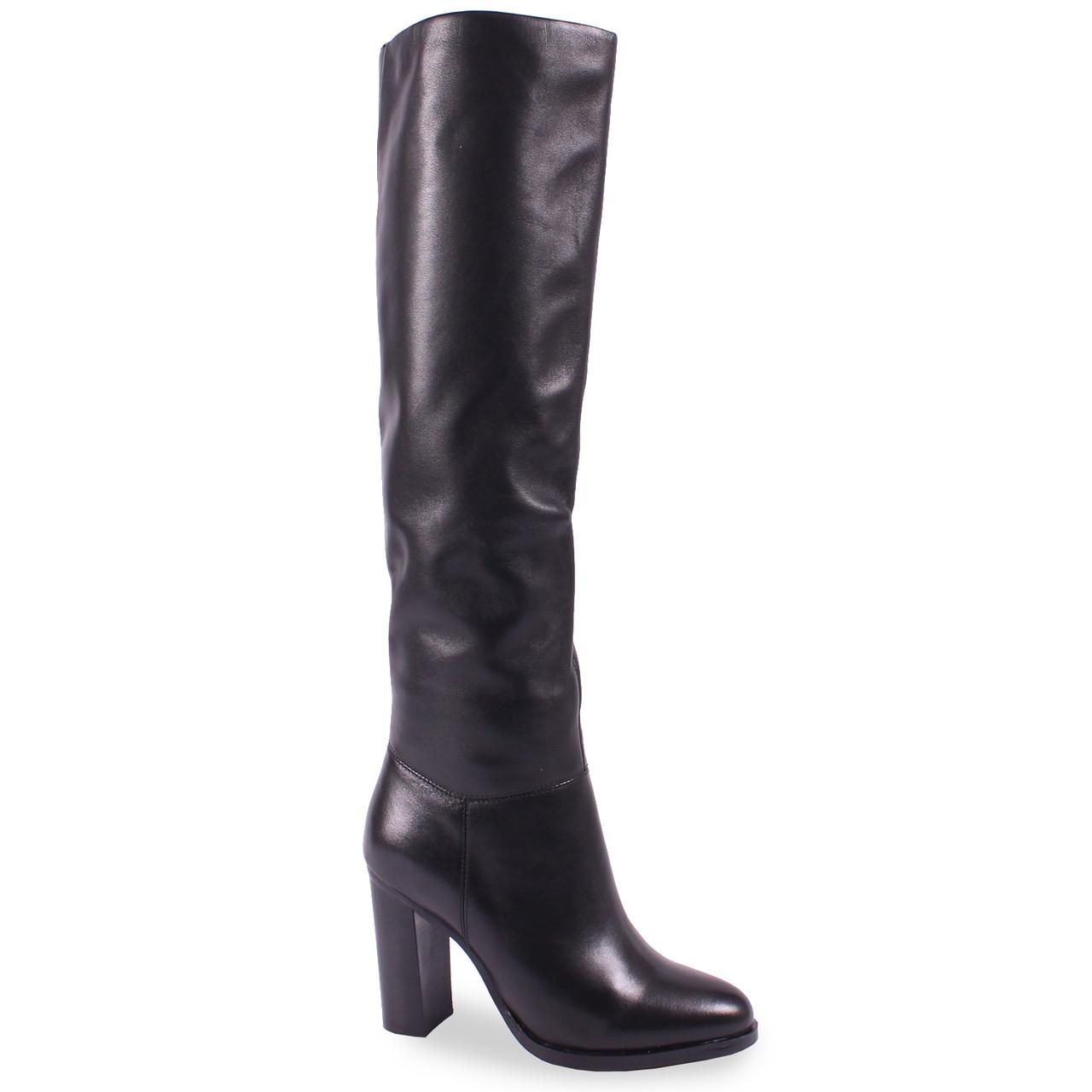 90719cdc817e Купить Стильные женские ботфорты Angelo Vani(зимние, натуральную кожу, на  каблуке, на ...