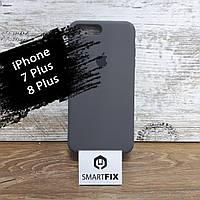 Силиконовый чехол для iPhone 7 Plus / iPhone 8 Plus Soft Серый, фото 1