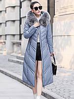 Пуховик женская толстая теплая куртка средней длины 3 цв