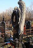 Памятник в виде ангела. Ангел из гранита с зеркалом, фото 3