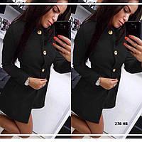 Красивое женское пальто на пуговицах 276 нв