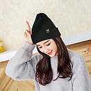 Теплая вязаная шапка, фото 5