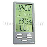 Термометр электронный с гигрометром, часами, будильником, календарём и выносным датчиком DC-802