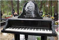 Эксклюзивный надгробный памятник в форме пианино (рояля), фото 1