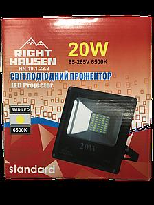 Прожектор RIGHT HAUSEN STANDARD LED 20W 6500K IP65 Чорний HN-191222, фото 2