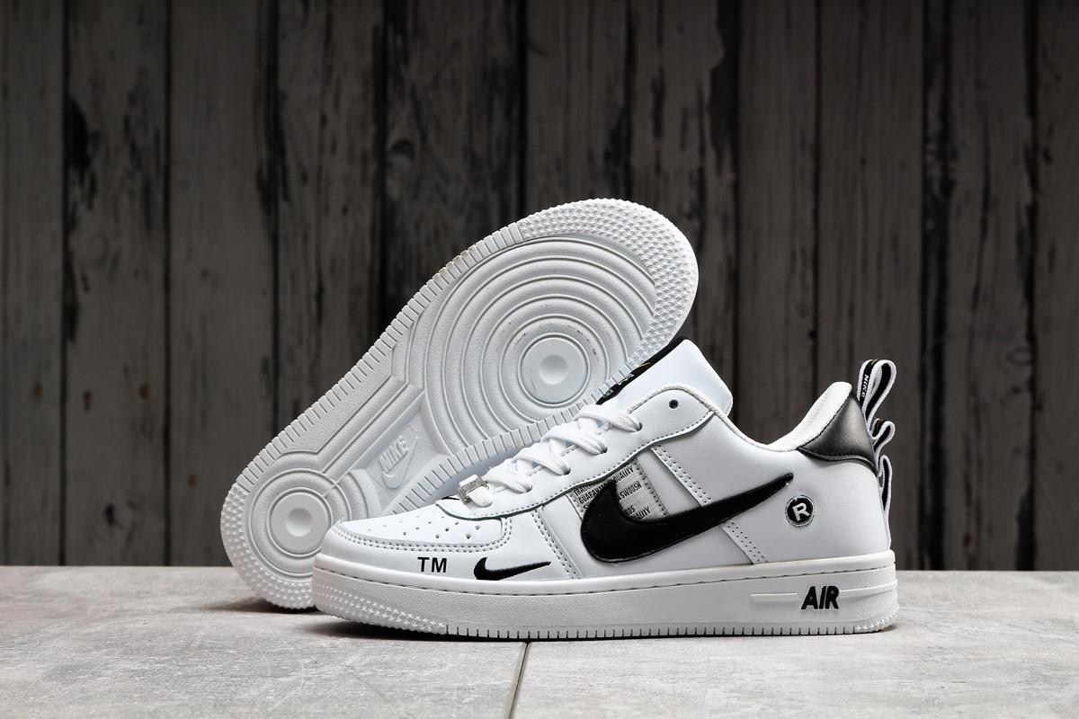Женские кроссовки в стиле Nike Air, натуральная кожа, белые с черным 40 (25 см), размеры:38,39,40