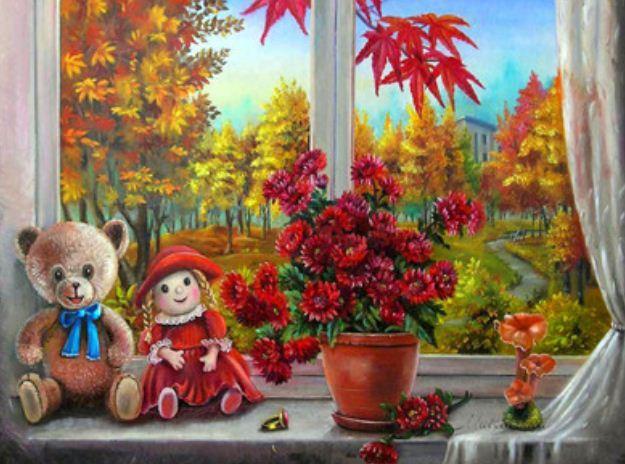 """Картина по номерам RA3197_O 40*50см """"Осенний пейзаж"""" OPP (холст на раме с краск.кисти)"""