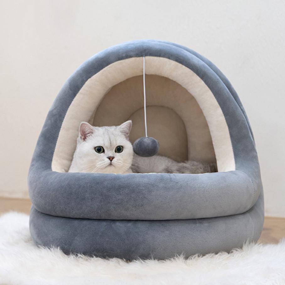 Домик лежанка юрта для кошек собак с подушкой premium качество с игрушкой
