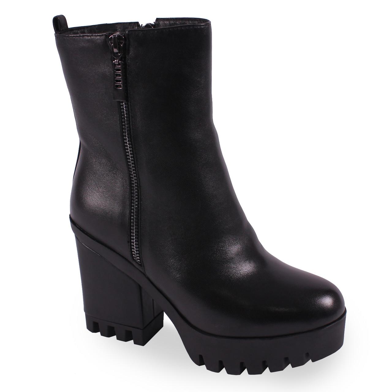 170aeaf9af96d2 Красивые женские ботинки Soti Soni(зимние, тракторная подошва, на каблуке, натуральная  кожа, замок, удобные)