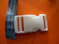 Фастекс пластиковый 25мм  (карабин) белый