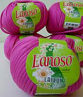 Пряжа для вязания Laseus Lanosso фуксия