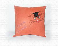 Подушка з кішечкою і написом, фото 2