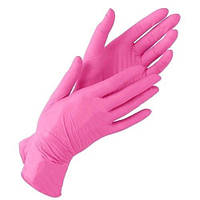 Перчатки нитриловые XS неопудренные 100 шт/уп розовые