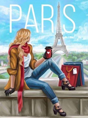 """Картина по номерам RA3126_O 40*50см """"PARIS"""" OPP (холст на раме с краск.кисти), фото 2"""