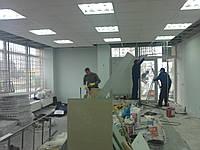 Монтаж подвесных потолков: армстронг, гипсокартон, пластик.