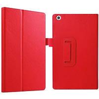 Кожаный чехол-книжка для планшета Lenovo Tab 2 A8-50F TTX с функцией подставки Красный