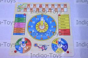 Деревянные часы - календарь, фото 2