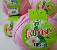 Пряжа для вязания Laseus Lanosso роз
