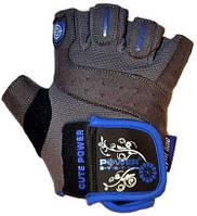 Перчатки для фитнесса женские. Улучшенный хват POWER SYSTEM Синий