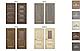 """Двері міжкімнатні глухі новий стиль Прованс """"Канна A"""" 60,70,80,90 горіх гімалайський, фото 7"""
