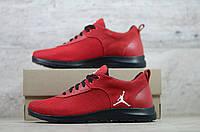 Мужские кроссовки в стиле Jordan, сетка, текстиль, красные 44(29 см), последний размер