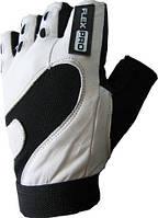 Перчатки для фитнесса кожаные POWER SYSTEM Черный Белый
