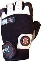 Перчатки для фитнесса кожаные POWER SYSTEM Белый